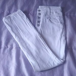 High Waisted White Jean - Delia's, Size 3